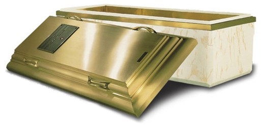 TRIPLE-REINFORCED BRONZE® BURIAL VAULT